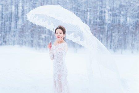[北海道雪國婚紗] 晏。晴 雪之婚紗