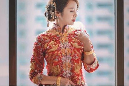 周薇薇新娘秘書 龍鳳掛造型