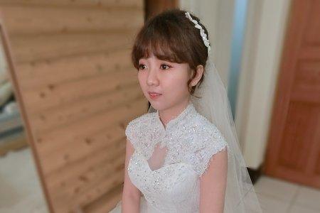 107/12/30新人結婚早妝晚宴妝髮側拍