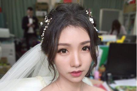白紗進場-長紗盤髮浪漫女神推薦