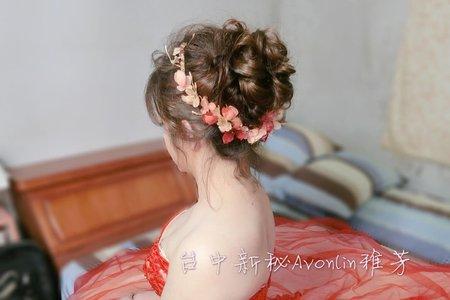 12/23稀疏髮接髮片婚禮造型