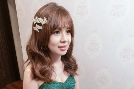 自然韓系簡單美妝髮