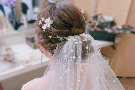 新娘造型-婚禮妝髮現場側拍