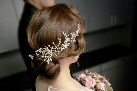 新娘造型-婚禮現場造型側拍