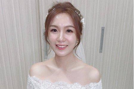 新娘造型-白紗迎娶儀式妝髮整體造型