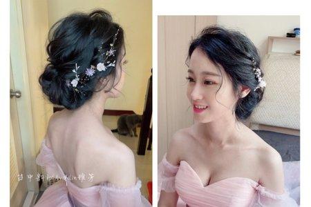 新娘造型-台中新秘Avonlin雅芳婚禮現場側拍