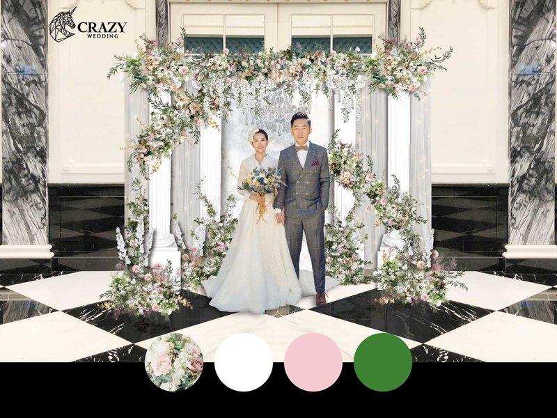 水晶歐粉婚禮佈置