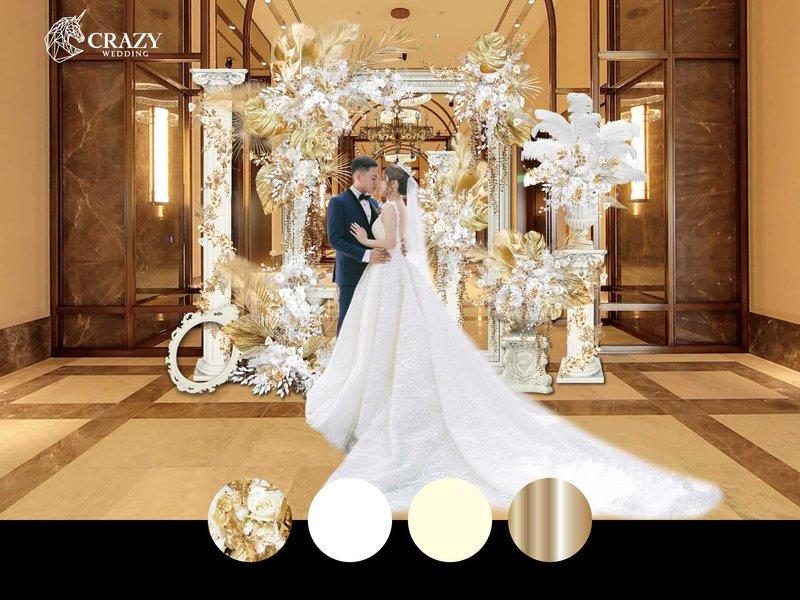 華麗白金婚禮佈置