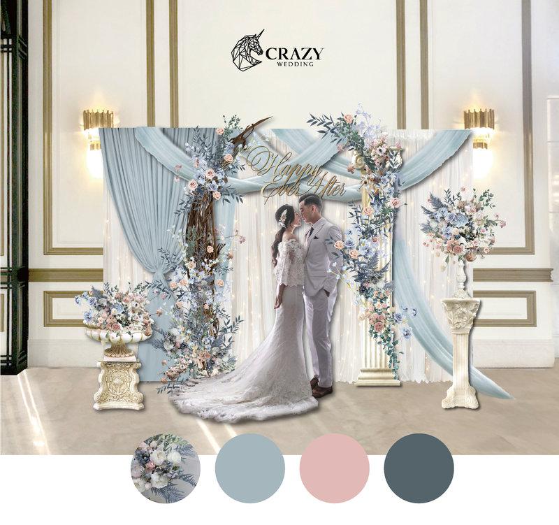 風尚粉藍婚禮佈置