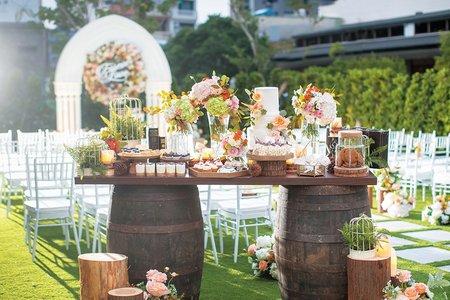 Tiger wedding 主題佈置 -美式鄉村風婚禮