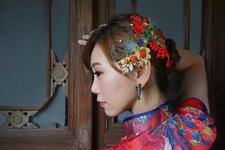 大紅復古旗袍