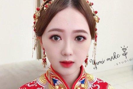 Yumi make up studio-龍鳳掛 旗袍 中式造型 文定造型
