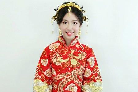 中式秀禾服化身古典美人