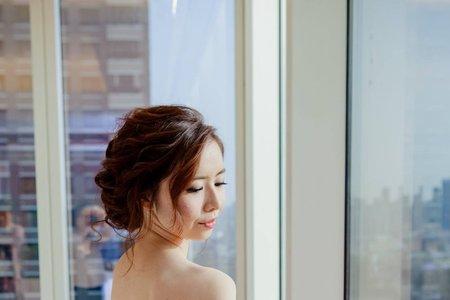韓式空氣感盤髮