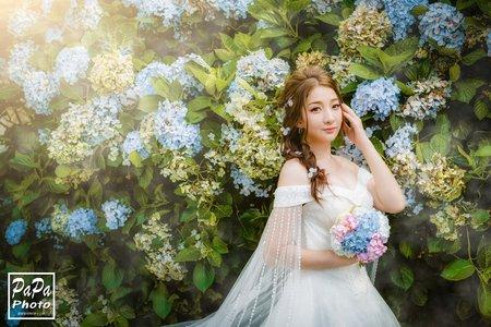 陽明山超夢幻唯美婚紗  PAPA-PHOTO 高家繡球花田+夢幻湖 寧寧