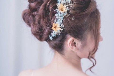 stylist Sharon作品集-日系甜美花苞髮型