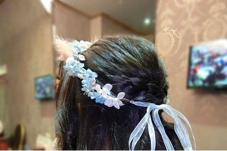 婚宴現場-送客造型新娘-靜卿 造型-朵拉