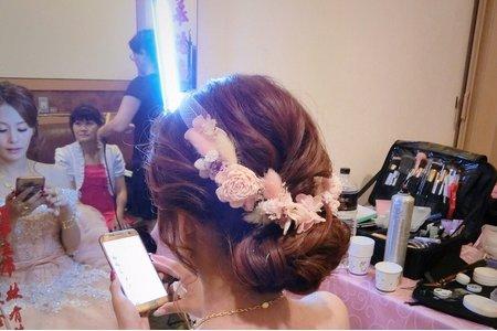 M&B studio婚宴現場-新娘美俐文定造型 造型:朵拉