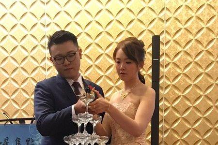 M&B studio婚宴現場-文定午宴敬酒送客造型新娘雯涵