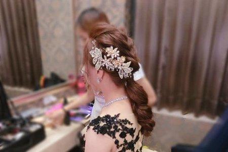 婚宴現場-新娘宇嫻-敬酒造型