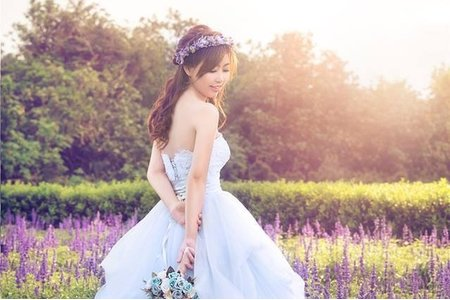 Alice W. Studio-淡水莊園婚紗造型 噴槍底妝