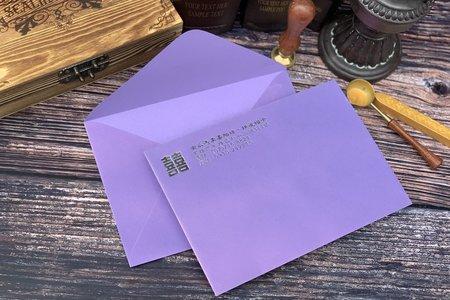 薰衣紫珠光信封