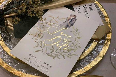 【白色婚禮.手感明信片喜帖】編號V51