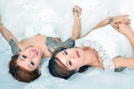 閨密婚紗寫真-水晶相本2本