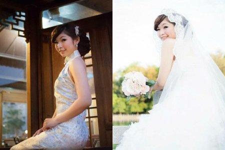 婚紗外拍-古典浪漫長紗三造型