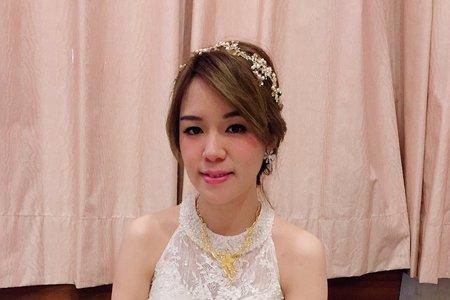 結婚典雅髮妝