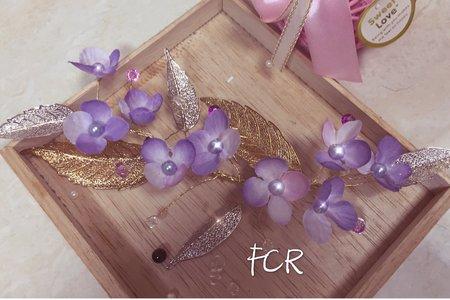 手作飾品:紫色夢幻