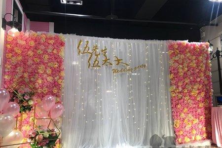 白紗花牆款 適合舞台大空間背板使用
