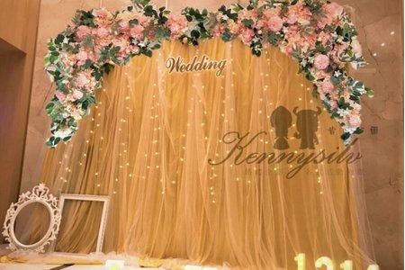 [肯尼西爾佈置] 皇家紗幔款 婚禮佈置 結婚拍照背板