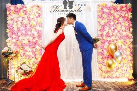 [肯尼西爾佈置] 舞台背景 白紗花牆款 婚禮拍照背板  婚禮佈置