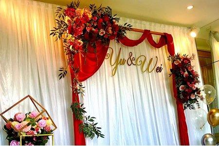 證婚拱門 婚禮佈置 背板
