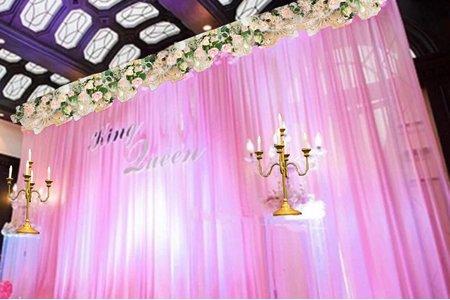 粉紗花藝款- 婚禮背板 [肯尼西爾佈置]