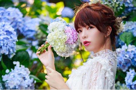 自助婚紗-繡球花-甄甄