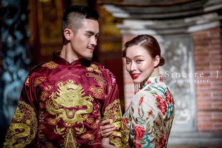 中式婚禮?龍鳳掛造型?