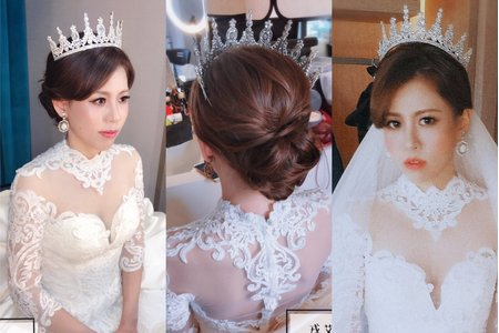 👑女王登場💎霸氣白紗造型✨