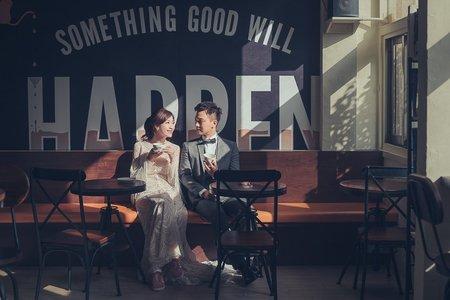 [台南自助婚紗]咖啡吧的美好邂逅
