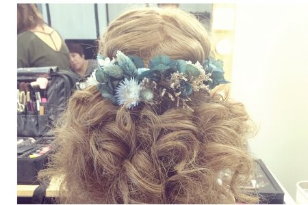 乾燥花髮型