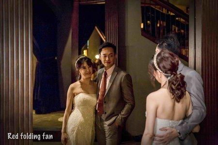 紅扇影像&婚禮攝影 美麗華金色三麥 帥哥哥與愛請吃飯的漂亮姊姊