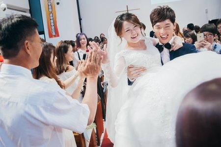 ❚婚禮紀實❚台中教會證婚葳格寶麗金國際宴會廣場午宴