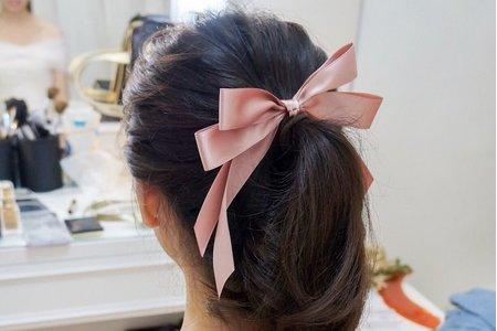 婚宴日現場髮型