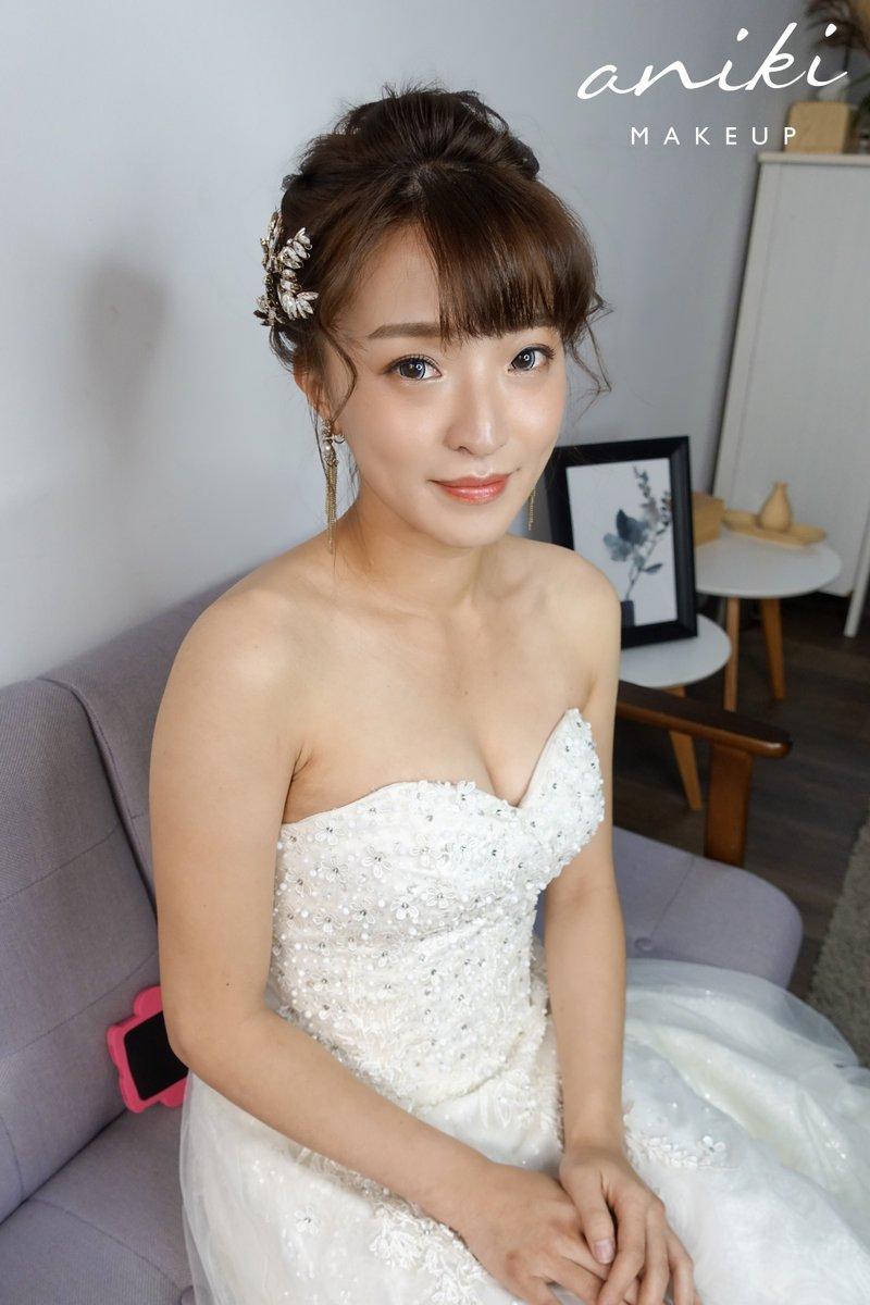 新娘造型,中長髮,髮型,新秘
