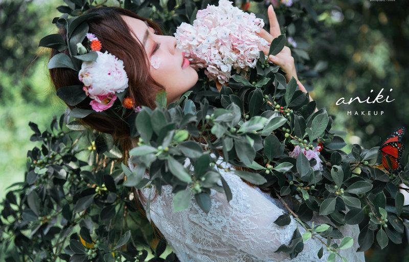 新娘造型,新秘,髮型,鮮花