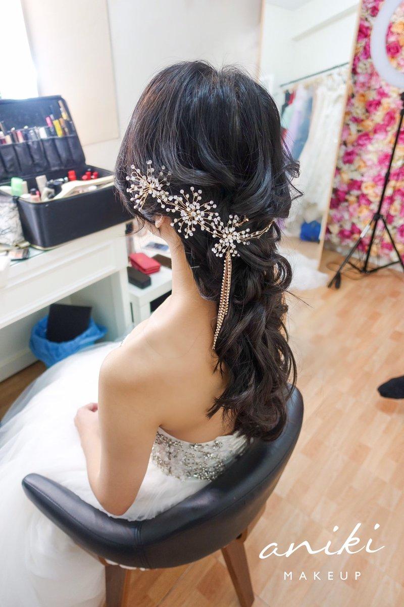黑髮,新娘造型,髮型