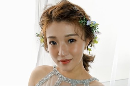 Aniki 短髮新娘盤髮+低馬尾