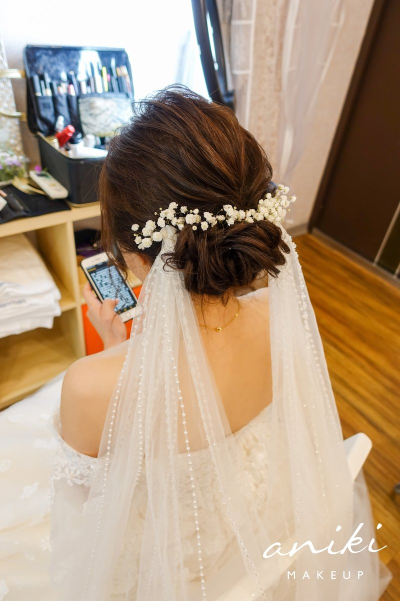 新娘頭紗,頭紗,長頭紗,新娘造型