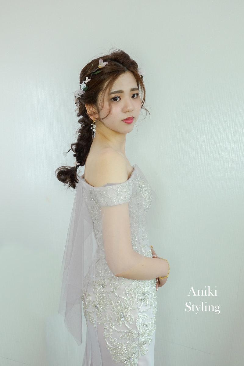 新秘,新娘造型,編髮,日系編髮